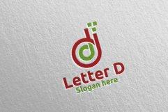Digital Letter D Logo Design 14 Product Image 4