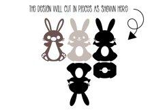 Bunny Rabbit Easter egg holder design SVG / DXF / EPS files. Product Image 2