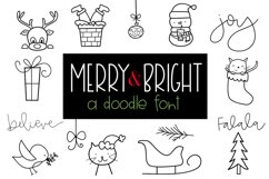 Merry and Bright - A Christmas / Winter Doodles Font Product Image 1