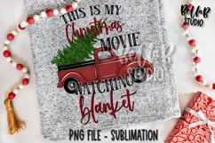 This Is My Christmas Movie Watching Blanket Sublimation Product Image 1