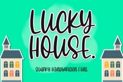 Lucky House - Quirky Handwritten Font Product Image 1