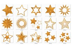 Gold stars clipart Invitation card design Gold foil stars Product Image 4
