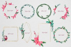 Christmas watercolor geometric frames Product Image 3