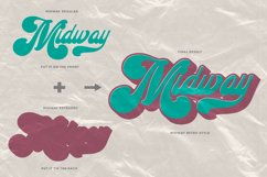 Midway | Retro Script Font Product Image 3