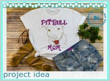 Dog Mom American terrier line art animal lover quote design Product Image 3