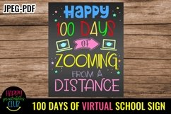 100 Days of Zooming Sign- 100 Days of School Sign Poster Product Image 1