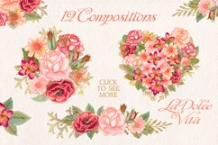 Watercolor glitter floral collection Product Image 2