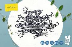 Rocket svg, Planet cut file, Space svg, Rocket clipart Product Image 1