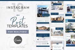 Real Estate Instagram Post Template | Canva Product Image 1
