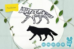 Wolf svg, Wild at heart quote svg, animal svg, Husky svg Product Image 2