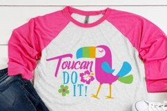 Toucan do it parrot SVG file, summer tropical cutting file Product Image 2