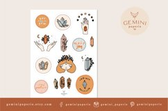 Gemstone Printable Stickers   Cricut Design Sticker Sheet Product Image 2