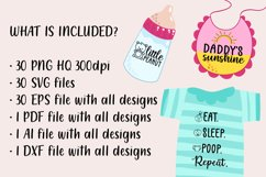 30 Baby SVG Bundle - Baby quotes SVG - New born quotesc SVG Product Image 2
