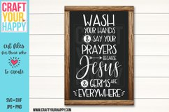 Wash Your Hands And Say Your Prayers - A Bathroom SVG File Product Image 1