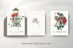 Modern Vintage Floral Wedding Invitation Suite Product Image 6