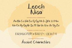 Leoch Nisa Modern Handbrushed Font Product Image 5