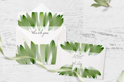Foliage Clipart Green Watercolor Frame Product Image 4