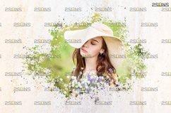 Watercolor portrait paint masks, photo frame, Photoshop Product Image 5