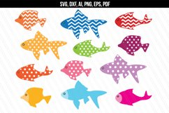 Fish svg dxf cutting files Product Image 1
