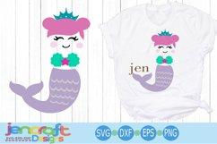 Mermaid girl SVG - Monogram Frames SVG images Product Image 1