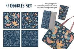 ETHNIC WINTER Folk Ornament Decor Fabric Print Doodle Product Image 6