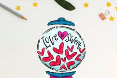 Love is sweet, gum ball heart machine, sublimation designs Product Image 2