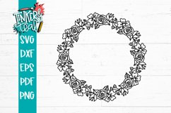 Floral Wreath Svg Product Image 4