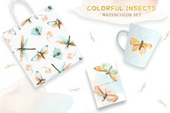 Watercolor Set Colorful Insects Product Image 4