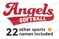 Angels svg, Angel svg, Angels baseball svg, swoosh svg Product Image 1