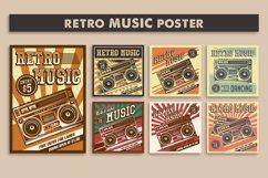 Retro Music Tape Recorder Radio Vintage Signage Poster Product Image 1