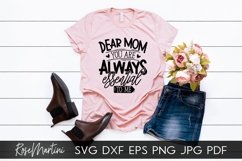 Dear Mom You Are Always Essential To Me SVG Mothers Day Product Image 3