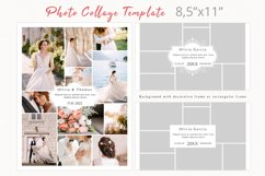 Letter size photography collage template, Yearbook Product Image 2