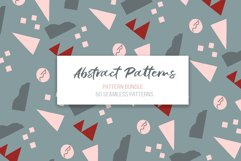 Abstract vector patterns. Big geometric collection, seamless Product Image 1