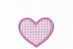 Simple Heart Applique Design Product Image 2
