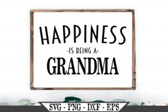 Happiness Is Being A Grandma SVG Product Image 1