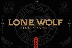 LONE WOLF Serif font Product Image 2