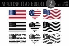 American Flag Bundle, SVG, distressed, black Product Image 1