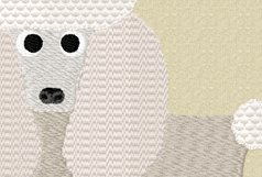 POODLE Embroidery Design in 2 sizes Product Image 5