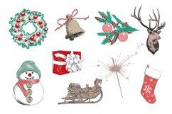 Winter holidays hand drawn art set Product Image 3