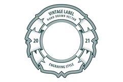 Vintage style labels set. Product Image 3