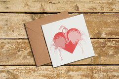 Couple of pink silhouette flamingos in love. Product Image 1