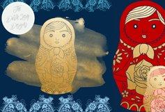 Russian Matryoshka Doll Clipart Product Image 3