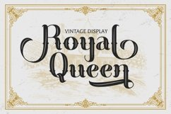 Royal Queen - Vintage Display Font Product Image 1
