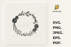 Hand drown olive branch, laurel wreath, wildflower monogram Product Image 1