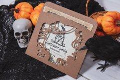 Halloweens Night Envelope Invitation cutting file Product Image 2