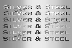 Silver & Steel Gradient Procreate Metallic Color Palette Product Image 3
