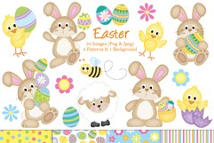 Easter clipart, Easter bunny graphics & illustrations Product Image 1