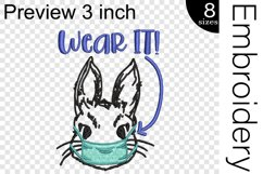 Wear It Bunny Mask - Embroidery Files - 1477e Product Image 2