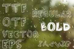 3D style sketch font Product Image 3