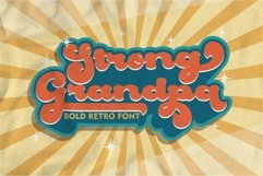 Strong Grandpa - Bold Retro Font Product Image 1